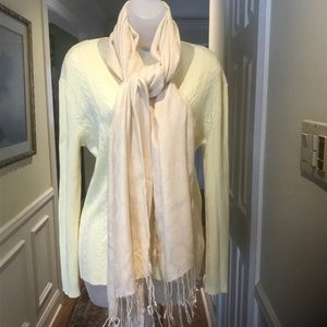 "Ashley Cooper - Lady lovely cream pashmina 56""x26"""